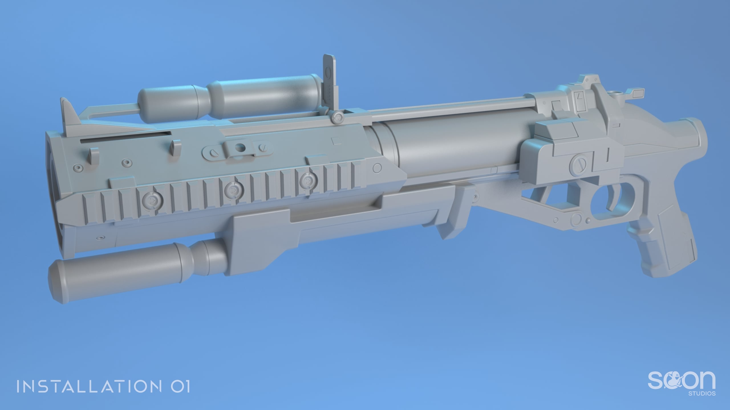 Installation 01 Grenade Launcher Model #3