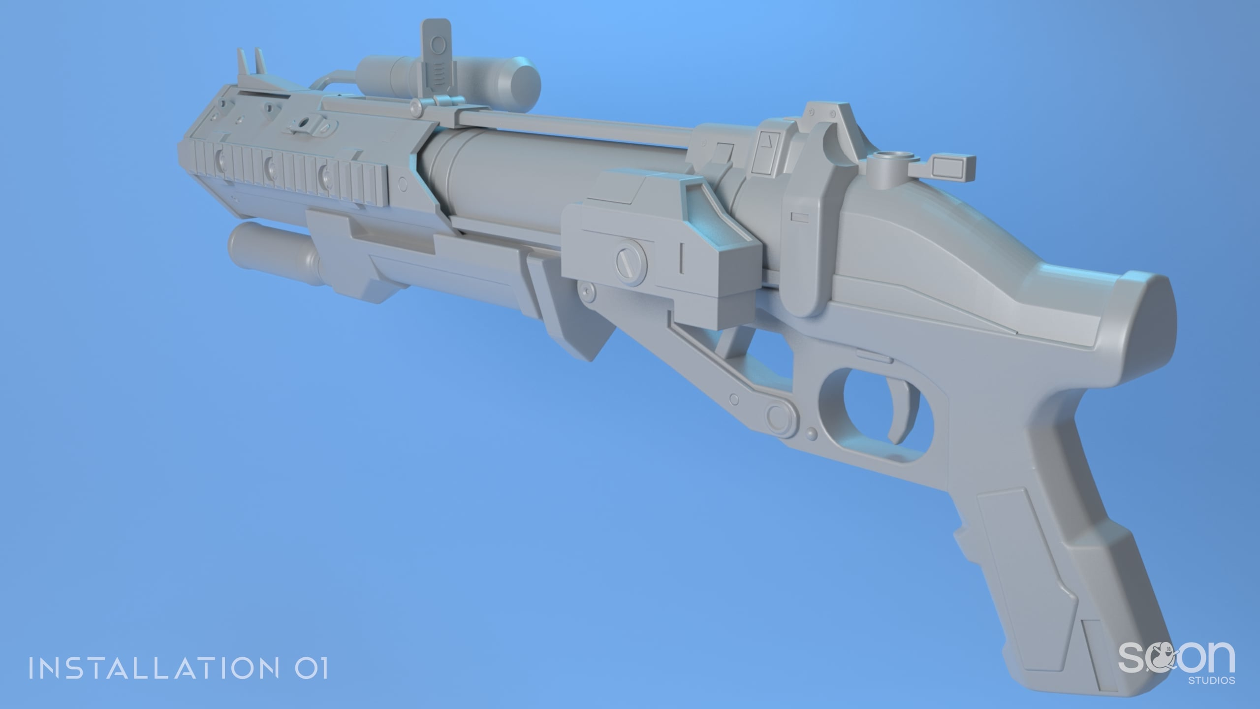 Installation 01 Grenade Launcher Model #1
