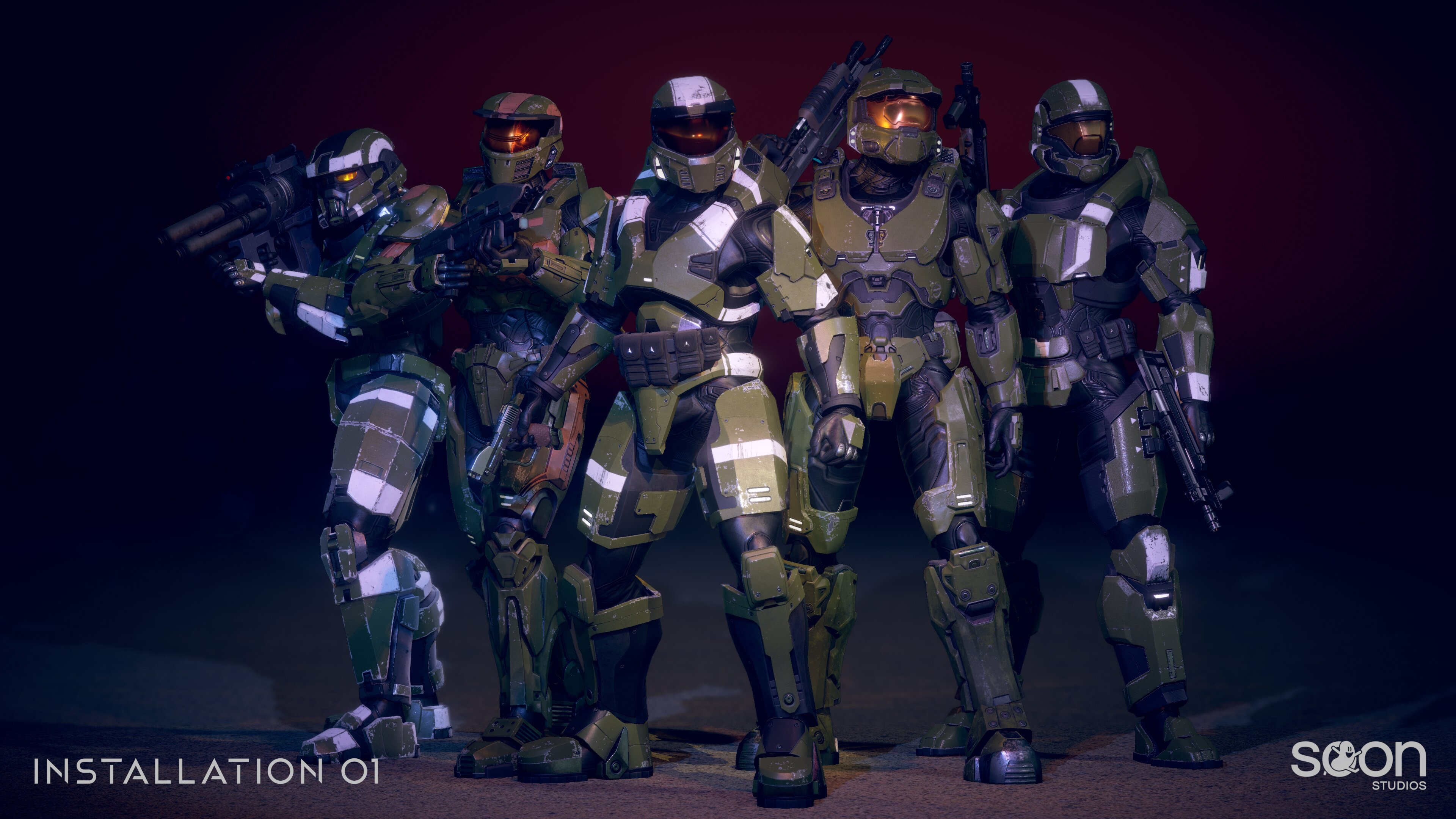 Installation 01 EOD, Mark IV, Mark V, Mark VI, and ODST Armors