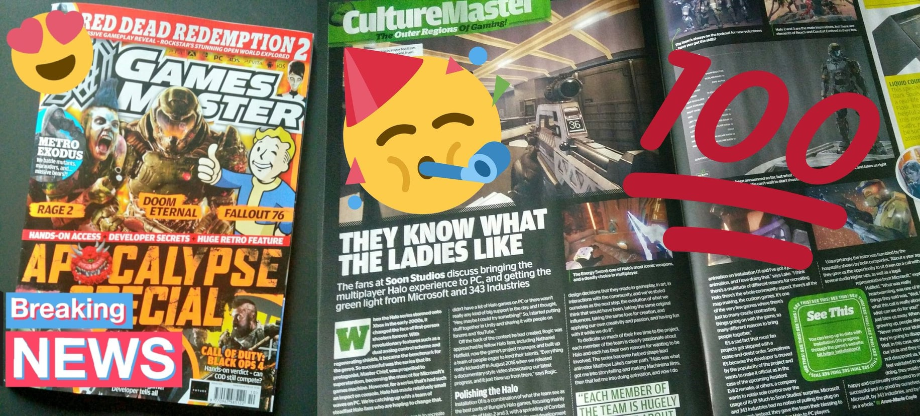 Installation 01 in GamesMaster UK magazine